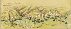 Image result for detailed map battle little bighorn