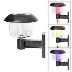 Color Changing Deck and Fence Wall Mount Solar Lights - USD $10.99