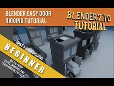 Easy Building Door Rigging Blender 2.70 Tutorial