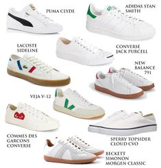 Nine white sneaker alternatives to the popular Nike Killshot 2 for J. Crew ideal for men's casual style and fashion. White Sneakers Nike, Sneakers Outfit Men, Winter Sneakers, Dress With Sneakers, Casual Sneakers, Leather Sneakers, Sneakers Fashion, Superga Sneakers, Sneakers Women