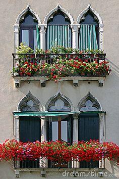 Venetian Windows by Luisafonso, via Dreamstime
