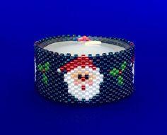 Santa Tea Light Cover/Napkin Ring Bead by PhoenixWolfDesigns
