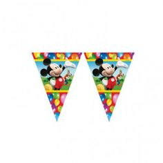 Mickey Mouse Party Time - Mickey Mouse Party Flag Banner by Missy Moo, http://www.amazon.co.uk/dp/B008IGCLNW/ref=cm_sw_r_pi_dp_vlYXsb09MX90M