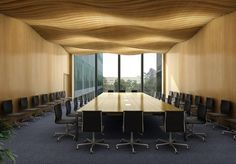 board meeting room at Shanghai Roche Expansion / EXH Design