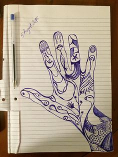 1. It is a hand that misses very much the Black Sea (even if drawn with Blue ballpoint pen :-))