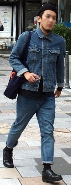 denim japanese men's clothing and casual fashion - fashion in japan