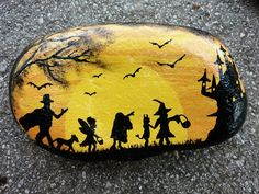 Image result for halloween rock painting ideas