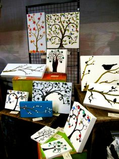 "Paint a tree trunk and use buttons for ""leaves"" :)"
