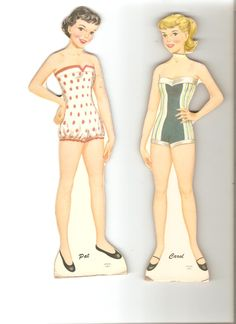 Another Teen Time box set, this one is Pat and Carol. The clothes in this set are very thin paper and tear easily. ...