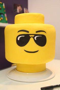 Festa Lego | bolo decorado com pasta americana