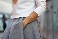 White, Grey & Gold.