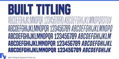 Built Titling Font - 10 styles (441 KB) | dafont.com