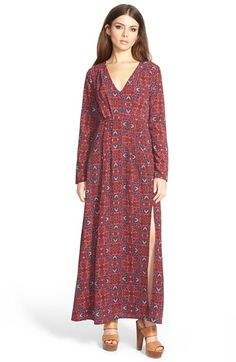 June & Hudson Long Sleeve Maxi Dress available at #Nordstrom