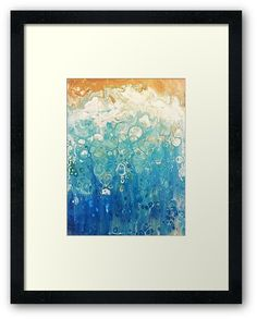 'Foam I Beach Art Fluid Painting' Framed Print by lukedwyerartist Wall Prints, Framed Art Prints, Canvas Prints, Coastal Art, Beach Art, Painting Frames, Art Boards, Duvet Covers