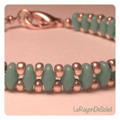 seed bead jewelry | Bracelet: SuperDuo & seed beads. | Jewelry