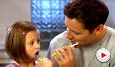 Video with tips on the correct way to brush children's teeth.