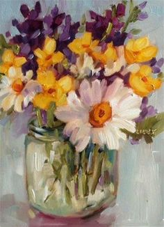 """Daily+Paintworks+-+""""From+the+Field""""+-+Original+Fine+Art+for+Sale+-+©+Libby+Anderson"""