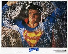 Superman III lobby card with Christopher Reeve