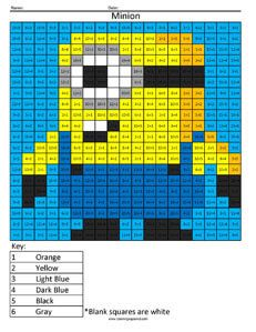 Cartoon- Multiplication and Division - Coloring Squared Minions, Cartoon Coloring Pages, Coloring Sheets, Teaching Math, Maths, Kindergarten Math, Multiplication And Division, Common Core Math, Math Facts