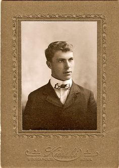 Handsome young man, vintage photo