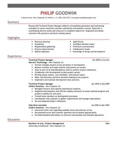 before you apply for the job look at a professional technical project manager resume sample - Construction Project Manager Resume Examples
