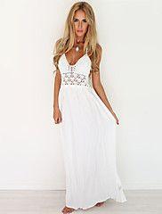 White Maxi Dress Summer New Arrival Women Sexy Boho Style Beach Dresses Bodycon 2016 Femme Plus Size Chiffon Clothing (Mainland)) Elegant Dresses, Cute Dresses, Beautiful Dresses, Casual Dresses, Party Dresses, Wedding Dresses, Wedding Lace, Holiday Dresses, Elegant Wedding