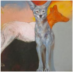 The Paper Coyote: Rebecca Haines Art And Illustration, Abstract Animals, Animal Projects, Wildlife Art, Animal Paintings, Dog Art, Spirit Animal, Pet Portraits, Painting & Drawing