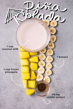 1. Piña Colada #greatist http://greatist.com/eat/simple-smoothie-recipes