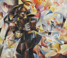 Tullio Crali Mendicante e Tabarin (Antagonismo sociale) , 1931 Umberto Boccioni, Italian Futurism, Futurism Art, Mediums Of Art, Italian Painters, Modern Art, Concept, Fine Art, Future