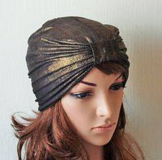 Golden Jersey Full Turban Hat Fashion Turban by accessoriesbyrita