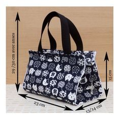 Tuto couture PDF patrons et explications du sac Capucine 3 tailles DIY - Sac Week End, Diy Bags Purses, Bag Patterns To Sew, Pdf Patterns, Designer Wallets, Craft Bags, Patchwork Bags, Fabric Bags, Diaper Bag