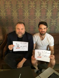 Vincent D'Onofrio and Charlie Cox