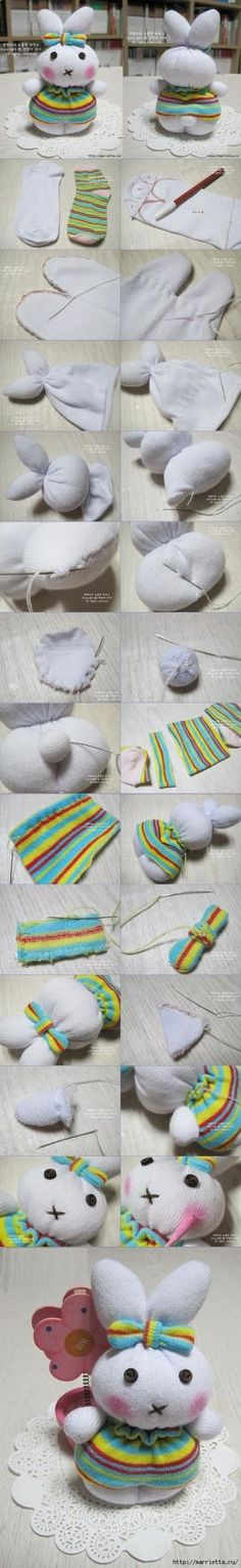 sock bunny TUTORIAL by leann