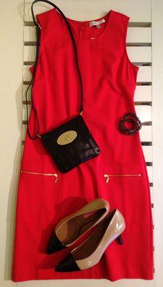 Beth Bowley dress, Isaac Mizrahi heels at Kiskadee