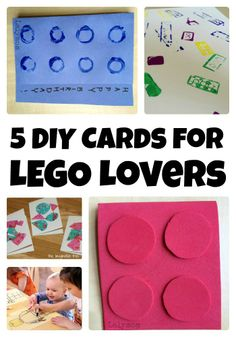 5 DIY Birthday Cards to Make for LEGO Lovers from Lalymom - 5 tutorials perfect for LEGO Birthday party invitations, birthday cards or Thank you notes!
