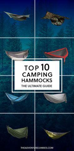 Top 10 Best Camping Hammocks – Best Camping Gear – Hiking Gear For Beginners – Backpacking Equipment List for Women, Men and Kids (Camping Hacks For Women) Best Camping Hammock, Camping Bedarf, Best Camping Gear, Camping Guide, Camping Checklist, Camping World, Camping Essentials, Camping With Kids, Hiking Gear