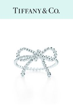 Tiffany and Co. twisted bow ring. The first thing I would give you to let you know that I promise to be here, forever.