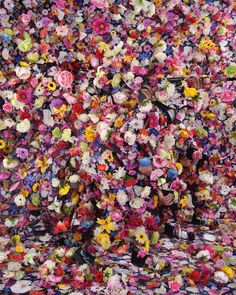 'Angel Soldier' by Lee Yongbaek — the scene is superficial, masking soldiers camouflaged in floral-printed military uniforms