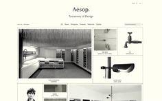 Aēsop Taxonomy of Design website
