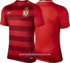 Nueva Camiseta Primera Tailandia Guangzhou Evergrande 2017 2018  4478d24efdfe5