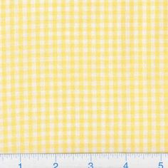 Kaufman 1/8'' Carolina Gingham Yellow from @fabricdotcom  From Robert Kaufman Fabrics, this light weight woven yarn dyed gingham fabric is extremely versatile. It can be used to create stylish summer dresses, children's apparel and blouses. It can also be used to make tablecloths, curtains and even handkerchiefs. Checks measure 1/8''.