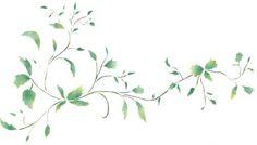 Leaf Border Wall Stencil