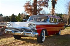 1959 Ford Ranch Wagon Rare Four Door, Six Passenger