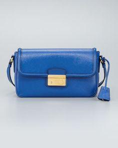 Prada Saffiano Vernice Small  Shoulder Bag