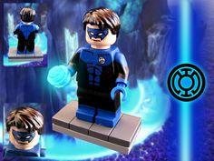 https://www.flickr.com/photos/130596390@N07/ Blue Lantern #DC #IMC #lego #superheroes #minifig #custom #lantern #blue #green #movie