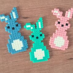 Easter bunnies hama beads by cristina_sanjose