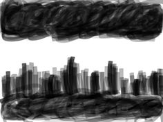 Here is basically a city on a cloudy day doodle.