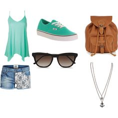"""Casual outfit for a daughter of Posiden"" by cheesyfoot on Polyvore"