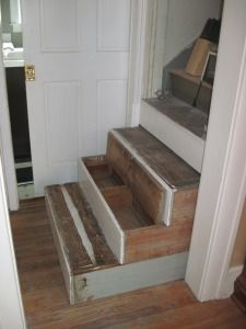 Idea From The 1920u0027s: Pull Out Stairs Complete With Drawer Storage