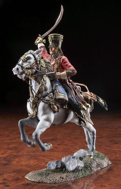 39000 - French Officer, 4th Regiment of Hussars Battle of Friedland - June 14, 1807
